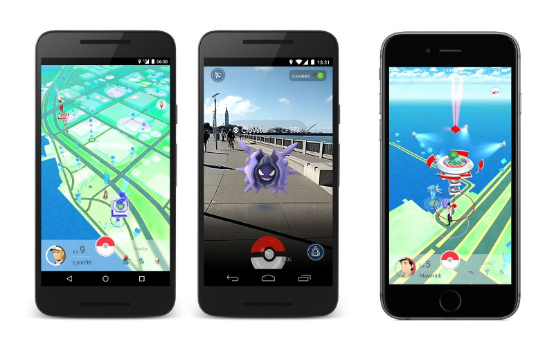 Prostredie hry Pokémon Go