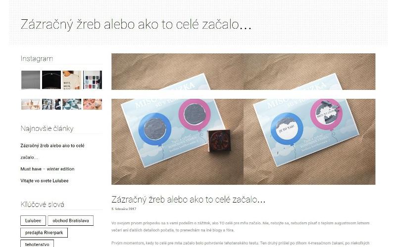 Blog post Lulubee.sk