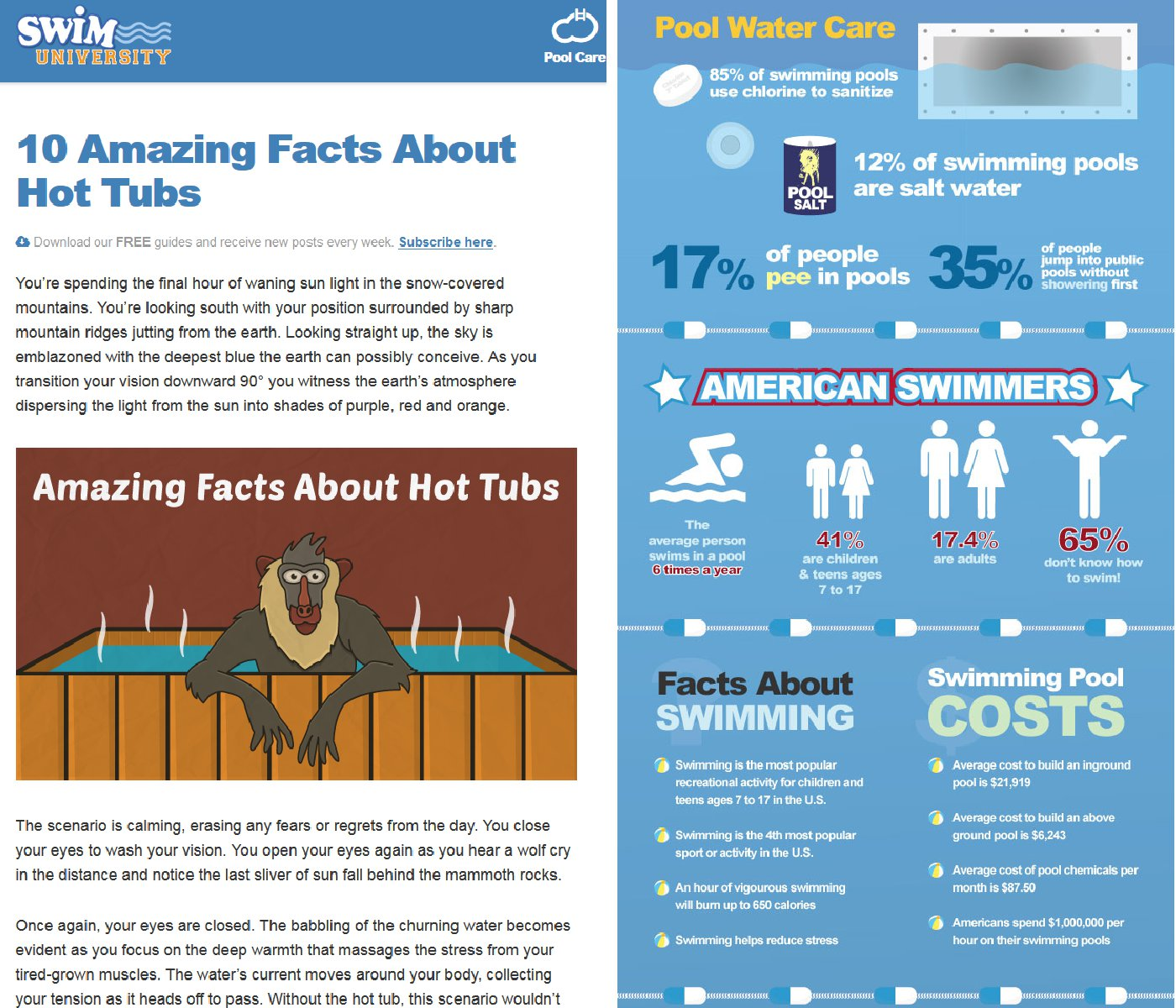 Infografika Swim University