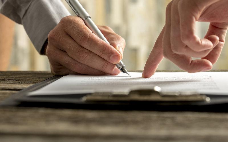Podpis úradného dokumentu