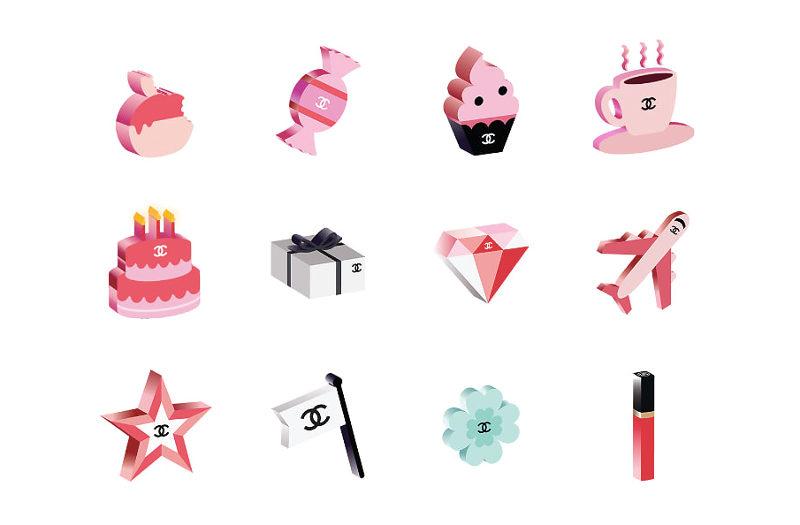 Kolekcia emoji Chanel