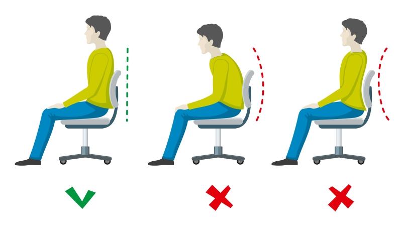 Držanie tela pri počítači